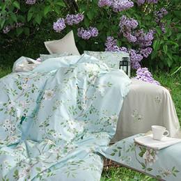 Wholesale Floral Bedding Queen - Riho 4-Piece 100% Cotton Rural Floral Rose Elegant Comfortable Bedding Sets Bedding Sheets Bed in a Bag(Yixi)