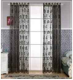 Wholesale Grommet Drapes Curtains - Five Colors Available Europe Type Style Fashion Modern Curtain Window Gauze Sheer Curtains For Living Room Balcony Kitchen Drapes