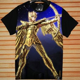Wholesale Legends Tshirt - Sagittarius Aiolos T shirt Saint Seiya short sleeve gown Legend of Sanctuary tees Anime fans clothing Unisex cotton Tshirt