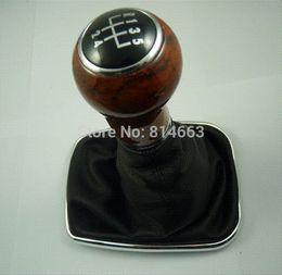 Wholesale Vw Jetta Boot - New 5-Speed Wooden Gear Shift Knob Gaitor Boot For VW Jetta 1998 1999 2000 2001 2002 20003 2004 (HDSQVW008)