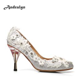 Wholesale Women Silk Dress - Andralyn Hand-made original women high heels wedding shoes,Classic pointed toe high quality bling silk woman dress pumps H1002