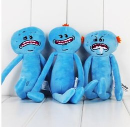 Wholesale Happy Faces - Rick And Morty Happy Sad Face Stuffed Plush Doll Soft Toy Gift cartoon Rick and Morty Stuffed baby Christmas gift plush toy KKA3219