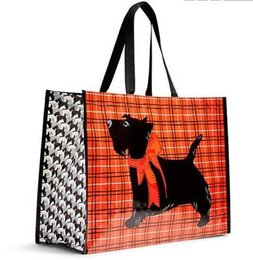 Wholesale Totes Folding Shopping Bag - VB Scottie Dogs Market Tote Shopping Bag Reusable Eco-Friendly GIFT