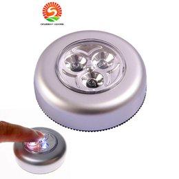 Wholesale Emergency Vehicles Lights - High bright 3LEDs Touch light stickup Vehicle-mounted LED light bulbs for trunk camping emergency lamp kitchen book lights Free shipping