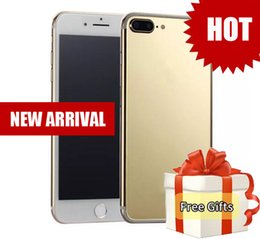 Wholesale New 4g Phones - New Arrival goophone i8 plus i7s plus 4G Network Quad Core MTK6580 1GB 16GB+64GB Android 6.0 GPS WiFi 13.0MP Camera phones i8