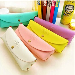 Wholesale School Supply Wholesales - Wholesale-2016 Hot Sale Colorful Floral leather Multifunction Pencil Bags Stationery School Macarons color Pencil Case Students Supplies