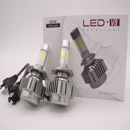 Wholesale White Led H7 Bulbs - 160W 16000LM Car CREE 4 chips LED Headlights Auto Conversion Lamp Bulb Light H7 H8 H9 H11 HB3 HB4 9005 9006 WHITE 6000K