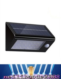 Wholesale Wall Mounting Solar Led Light - Hot Selling Black 32 LED Solar Lights Outdoor Garden Exterior Wall Mounted Led lamps free shipping MYY