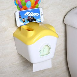Wholesale Waterproof Paper Holder - Wholesale- New Roll Paper Cartoon Moive Up Creative tissue box Waterproof Roll Holder Phone holder cell phone paper holder Home Der