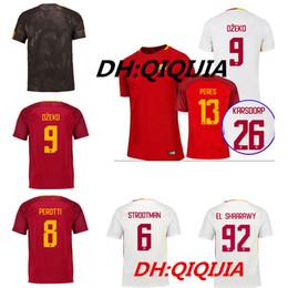 Wholesale cheap thailand jerseys - Cheap 17 18 roma soccer jersey TOTTI DZEKO DE ROSSI Jersey 2017 2018 Thailand Quality EL SHAARAWY NAINGGOLAN Football shirt