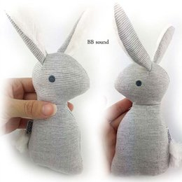 Wholesale Bb Mobile - Wholesale- 1pcs 0-12 months BB Rabbit Baby Toys Plush Bunny Rattle mobiles Infant Ring Bell Crib Bed Hanging Animal Bebe Toy Kids Doll
