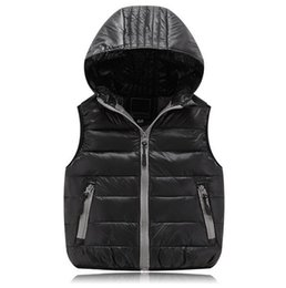 Wholesale Down Vest Coat - Children Clothing Winter Outerwear&Coats Animal Graffiti Thick Princess Child Vest Hooded Kids Jackets Baby Child Warm Waistcoat