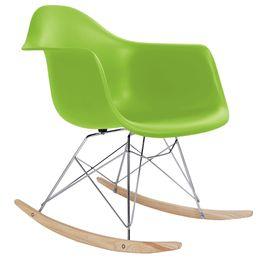 amerikanisches möbel schlafzimmer Rabatt Eames RAR-Stil Mitte des Jahrhunderts moderne geformte Kunststoff Schaukel Rocker Shell Arm Chair