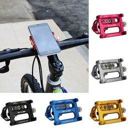 Wholesale Mount Motorcycles - Shockproof Metal Phone Stand Bike Bicycle Phone Holder Motorcycle Handle Phone Mount For Samsung S8 GPS Bike Outdoor Stand