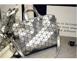 Wholesale Large Foldable Shopping Bag - High quality Geometric Design Fashion Bao Bao Handbag Foldable Plaid Women Shoulder Bag Quilted Folded Casual Large Shopping Bag For Women