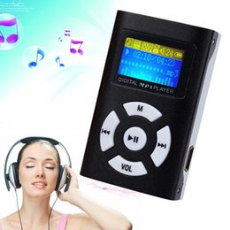 Wholesale Mp3 Microsd - Wholesale- USB Mini Digital MP3 Music Player LCD Screen Metal Support 32G MicroSD Card A APE