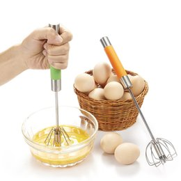 Wholesale Stainless Steel Mini Whisk - Manual Whisk Egg Beater Stainless Steel Mini Egg Beater Mixer Shaker Rotary Hand Mixer Egg Beaten