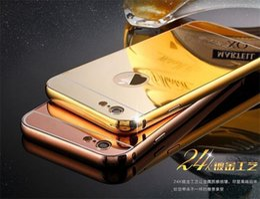 Wholesale Iphone 5s Case Luxury Aluminum - For iPhone 5 5S 6 7 Plus 6S galaxy S3 4 5 Grand Prime G530 S6 S7 edge Luxury Acrylic Gold Metal Aluminum Case Cover