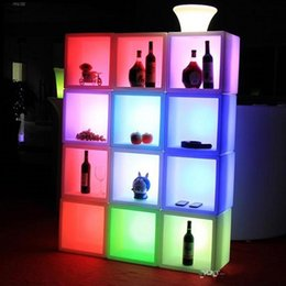 Wholesale Furniture Displays - New arrivial led furniture Waterproof Led display case 40CMx40CMx40CM colorful changed Rechargeable cabinet bar kTV disco party decorations
