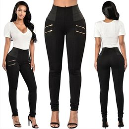 Wholesale Trousers Women Elegant - Fashion 2017 New Elegant Women's OL Work Wear Slim Skinny Stretch Pencil Pants Trousers Leggings For Women Female Plus Size