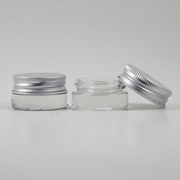 Wholesale Wholesale Glass Container Lid - 5g 5ML high quality glass cream jar with aluminum lids, cosmetic container, cosmetic packaging,5cc glass jar F2017499