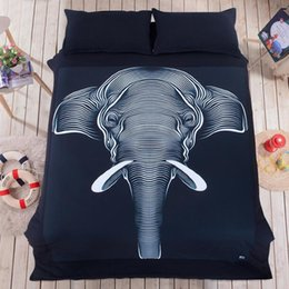 Wholesale Duvet Cover Set Shipping Free - Elephant Bedding Set Bedclothes Set Fashion Bedding Home Textiles pillowcase linen bedclothes Comforter Cover Free shipping