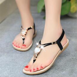 Canada Gros-nouveau strass sandales à talon plat mode 5 couleurs chaussures de plage femmes pantoufles sandales filles pantoufles de mode de haute qualité cheap flat heel slippers for girls Offre