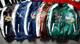 Wholesale Korea Spring Men Jacket - New palace South Korea Harajuku Yokosuka embroidery jacket tide male Japanese spring and autumn tide brand baseball jacket