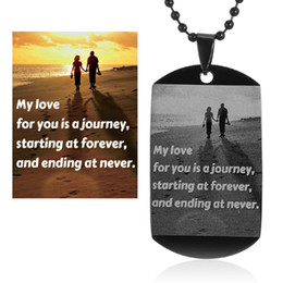 Wholesale Chain Necklaces Images - Wholesale- (Box+Necklace+Key Chain)Custom Pictures Image Pendant Necklace 316L Stainless Steel Engrave Your Photos On Necklace Jewelry