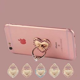 Wholesale Metal Case For Xiaomi - Finger Phone Holder Metal 360 Degree Rotation Fashion Diamond Ring Phone Stand Mount for iPhone Samsung Xiaomi Huawei