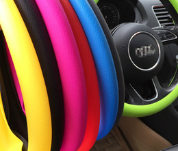 conjunto de cables Rebajas Coche Auto Silicona Volante Cubierta de guante Soft Auto Steering Covers Accesorios Universal