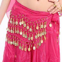 Mujeres sexy 3 Filas Danza del vientre Hip bufanda Wrap Cinturón Bailarina Falda Traje Cadena Mujeres Falda Bailarina Desgaste Accesorios desde fabricantes