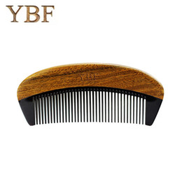 Wholesale Hot Magic Comb - YBF 2017 NEW HOT FASHION green sandalwood ox horn combs sales genuine Quality manufacturers assurance Magic makeup brushes