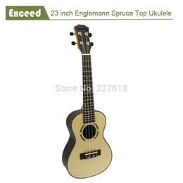 "Wholesale Concert Ukelele - Wholesale- Free shipping 23"" concert ukelele 4 strings Spruce top Hawaii handcraft acoustic Guitar uke Guitarra Ukulele musical instrument"