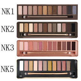 Wholesale Highest Water - In Stock! Makeup Eye Shadow NUDE 12 color eyeshadow palette 15.6g High quality NUDE 1.2.3.5 DHL Free shipping