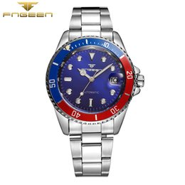 Wholesale Vintage Calendar Automatic - Wholesale- FNGEEN 9001 Automatic waterproof wristwatch Men Fashion Mechanical colorful Watch top quality mens famous calendar clock vintage