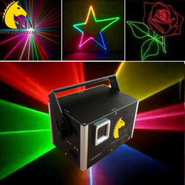 Wholesale Laser Blue Ttl - ILDA 1.2 W RGB with SD card TTL modulation laser beam and animation light for dj  stage light ads laser projector advertisement