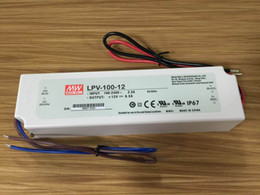 Wholesale Water Proof Led Power Supply - 100% Original New 100watt led driver power supply Meanwell LPV-100-12 ip67 water proof power supply unit 12v for led light
