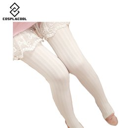 Wholesale Thick Winter Tights Women - Wholesale- [COSPLACOOL]2016 Autumn Winter Necessary Thick Velvet Tights Women Sexy Pantyhose Stripe Leg Warm Beautiful leg
