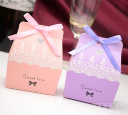 Wholesale Pink Sweet Boxes For Weddings - Wholesale- Free Shipping mini Sweet love Pink Candy Gift Favor Boxes For Wedding Party Favors 12pcs