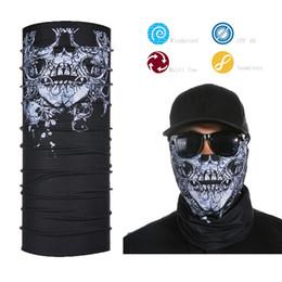 Wholesale Motorcycle Face Mask Pattern - Wholesale- Best Selling Motorcycle Tubes Black Skull Pattern Face Mask Custom Bandana Face Shield