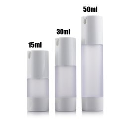 Wholesale Bottle Pump For Cosmetic Packaging - Free Shipping 300pcs lot 50ML frosted airless bottle small plastic lotion bottle with airless pump used for Cosmetic Packaging