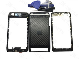 Wholesale Verizon Batteries - Full Housing Cover Case Battery Door Black for Motorola thin Verizon Droid Razr XT910 XT912Middle Frame Back housing Free Shipping