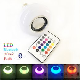 Canada Bluetooth sans fil 12W LED musique haut-parleur ampoule audio haut-parleur E27 RGBW musique jouant l'éclairage avec 24 clés télécommande IR shippinh gratuit Offre