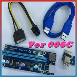 2019 кабель ethernet 5ft Новый Ver 006C для Bitcoin Шахтер Райзер PCI-E PCI-E Express 1x-16X графическая карта Райзер USB 3.0 SATA для 6-контактный разъем питания 60см последний