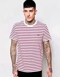 Wholesale Men S Express - Top Express 2017 New Mens Fred Brit Striped T-shirts Summer London Fashion Casual T-shirt Hot Male Tshirt England Tees S-XL