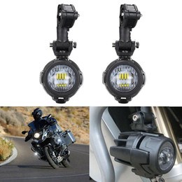 Wholesale Bmw Driving - 2 pcs Spot LED Auxiliary Fog Light Safety Driving Lamp Protect Guards And Wire Motorcycle for BMW R1200GS