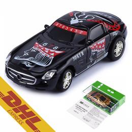 Wholesale Wholesale Mini Car - 60pcs lot 2.4G RC 1:67 Mini Poker Racing Car 4CH LED Light Rechargable Remote Radio Control Vehicle 8-Colors GreatWall 2221