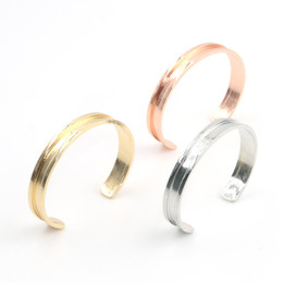 Wholesale Dhl Free Shipping Bracelet - Free DHL Shipping Novelty Zinc Alloy Rose Gold & Silver Hair Tie Bracelet For Women Cuff Bangle Hair ties bracelet Hair bands holder