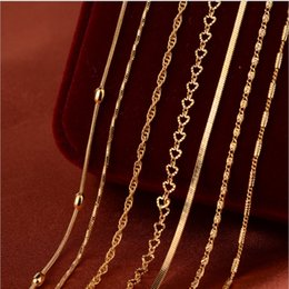 Wholesale Copper Fines - Manufacturers of new wholesale European and American women's necklace box chain chain of fine copper-plated gold necklace
